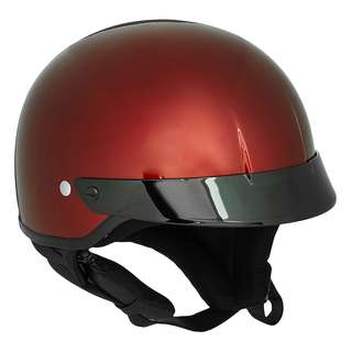 HJC CS-2N SIZE LARGE ONLY Half 1/2 Face Shell Bucket Motorbike Motorcycle Cafe Racer Retro Harley Davidson Helmet Wine Red