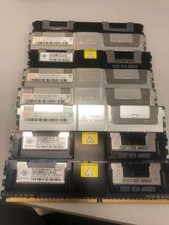 8條 ddr2 1GB ram ,一條10蚊