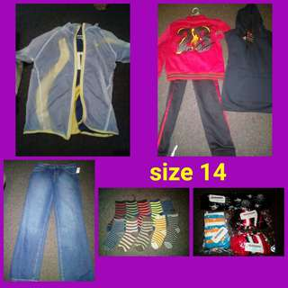 Awesome size 14 boys pack