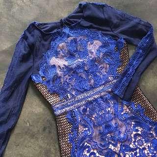 Three Floor Premium Quality Long Sleeve Lace Dress