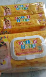 Jolly Tots Baby Wipes/wet tissues 80sheets selling only sgd3!