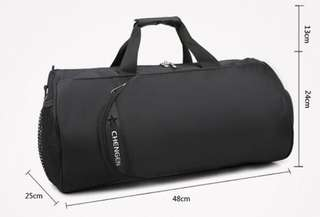 Gym bag/ Travel Bag/ Weekend bag/ Duffle bag- with shoe compartment (unused)