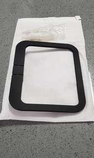 Black square towel holder