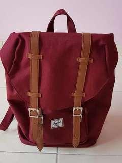 "Herschel Maroon Backpack for Laptop (up to 17"")"