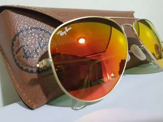 Authentic RAY-BAN Flash Lens Aviator