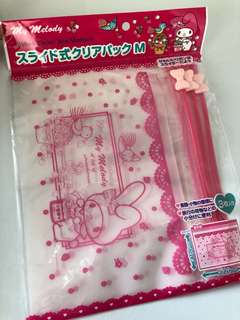 Authentic My Melody zipper bag