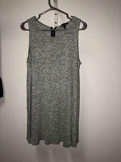 Grey Flowy Dress