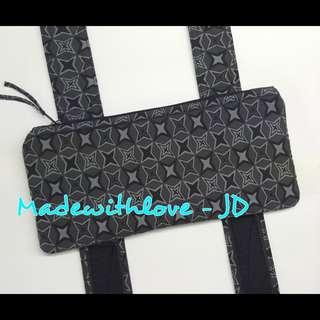 Top zipper side waist belt pouch for baby carrier