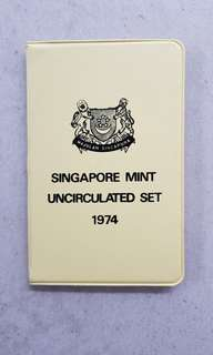 SINGAPORE MINT UNCIRCULATED COIN SET 1974 YEAR OF THE TIGER