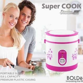 Rice Cooker Supercook Bolde Alat Masak Nasi yang memiliki 3 fungsi terbaik