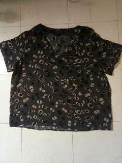 Dark gray loose top