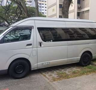 Hari Raya 13 Seater HiRoof Rental with driver