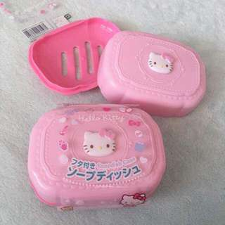 Free Shipping !! Hello Kitty Authentic Soap Holder Case With Cover
