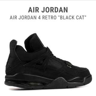 Jordan 4 Retro Black Cat UA 1:1