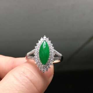 18K鑽石天然A貨馬眼戒指