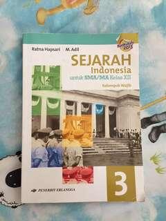 Buku Sejarah Indonesia, kelas XII /12 SMA/MA Kelompok Wajib