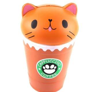 (PRE-ORDER) 14cm CUPPUCINO COFFEE CAT SCENTED SLOW RISING SQUISHY
