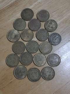 1971年至1978年一毫舊港幣 一共19隻共收80元.包真品