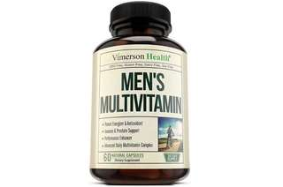 [IN-STOCK] Vimerson Health Men's Daily Multivitamin/Multimineral Supplement - Vitamins A C E D B1 B2 B3 B5 B6 B12. Magnesium, Biotin, Spirulina, Zinc. Antioxidant For Heart & Immune Health. 60 Daily Gluten Free Multivitamins.