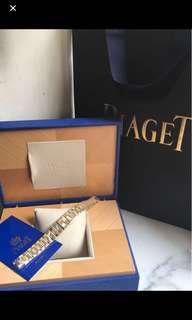 100%正貨99%New 伯爵 Piaget Dancer 18K 黃&白金 石英女裝手錶