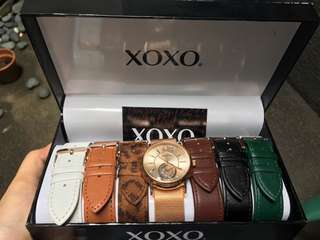 XOXO Watch (Interchangeable leather straps)