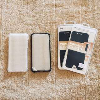 Iphone 6 shock proof case with FREE privacy tempered glass