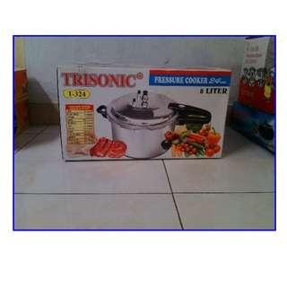 Promo Lebaran Presto 8 Liter Presure Cooker Trisonic Anti Karat