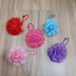 大玫瑰蕾絲髮束【一對】