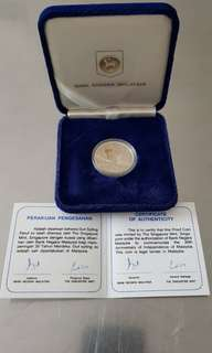 SILVER Proof Coin 30th Indepedence Malaysia - Bank Negara Malaysia