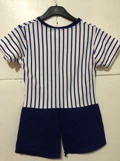 Striped shirt (with back detail)
