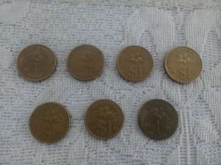 Old RM 1 & $1 Coins