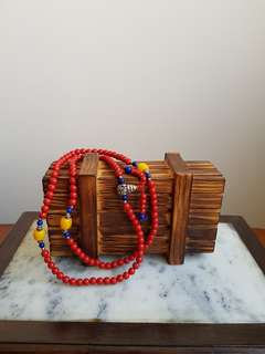Red beads for prayer