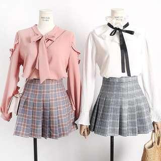 Ulzzang Plaid Checkered Skirt