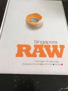 Singapore RAW (commemorating 25th anniversary of The New Paper) - 25 stories of NEWS, EMOTION, WOW (hardcover)