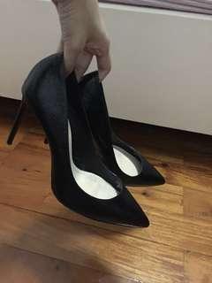 Basic black stilettos