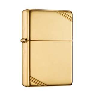 Zippo High Polish Brass Vintage with Slashes 270