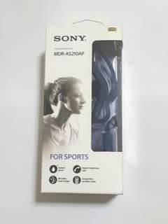 Sony Stereo Headphones MDR-AS210AP Clip-on Hands-free Call