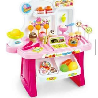 Children Kids Mini Market Portable Educational Play Set Toy