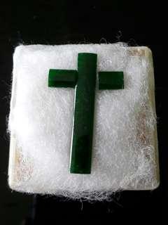 Natural Emerald Loose Cross Jade Stones