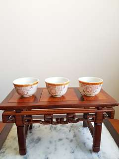 3 old Chinese cup