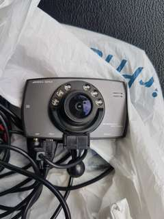 2 channels Full HD car camera black box recorder with rear camera