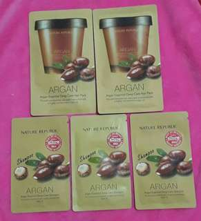 AGRAN Oil shampoo & hair pack bundle