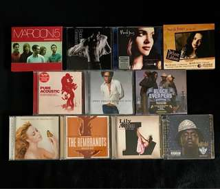 Pop CDs - Maroon 5, Norah Jones, Lenny Kravitz, The Black Eyed Peas, Will.i.am, Lily Allen, The Rembrandts, The Ting Tings