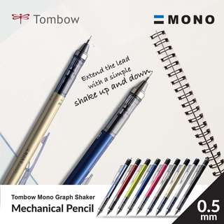 Tombow DPA-132H Mono Graph Shaker Mechanical Pencil - 0.5 mm -GOLD