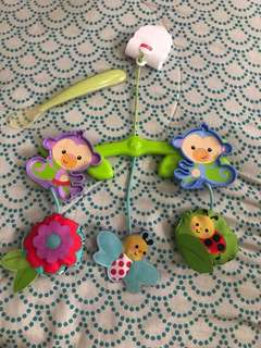 Chicco spoon and fisher price stroller hang toys