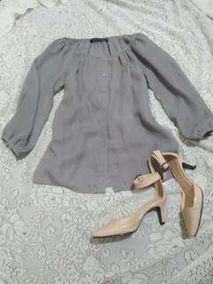 preloved semi formal blouse