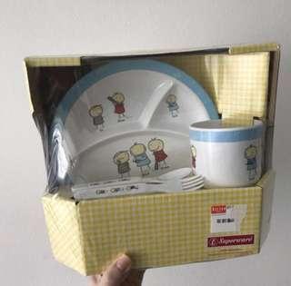 Kids Baby Feeding Set spoon fork cup plate tableware cutlery set