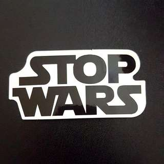 C4 Star Wars Stop Wars Logo Sticker Stickers