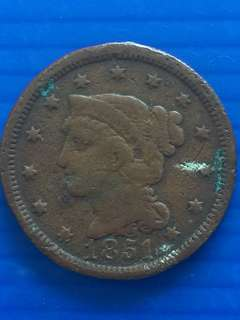 USA One Cent 1851