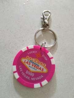 賭場紀念品籌碼鎖匙扣(全新)(Las Vegas)